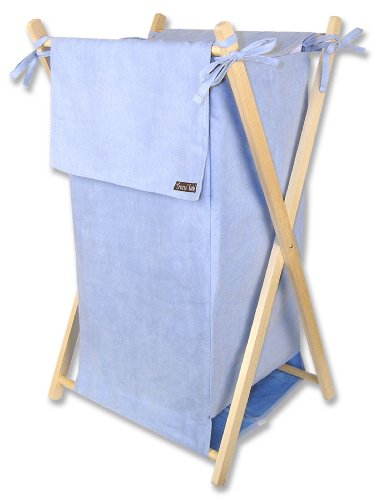 Trend Lab Ultra Suede Hamper, Blue