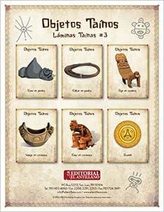 Láminas Taínas #3: Objetos Taínos (Spanish) Loose Leaf – Large