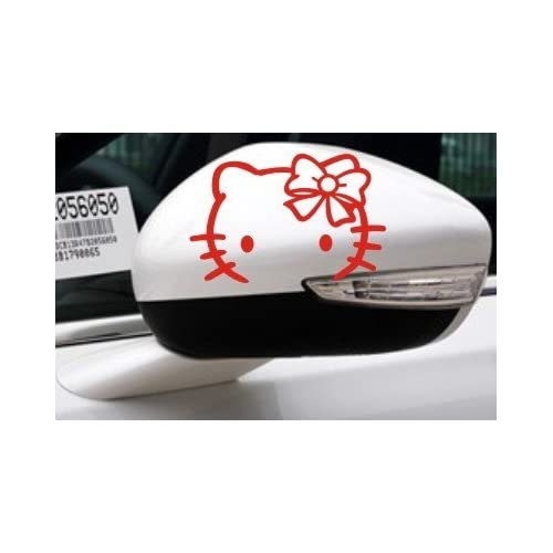 2x Hello Kitty Car Rear View Mirror Decal Stickers A 103