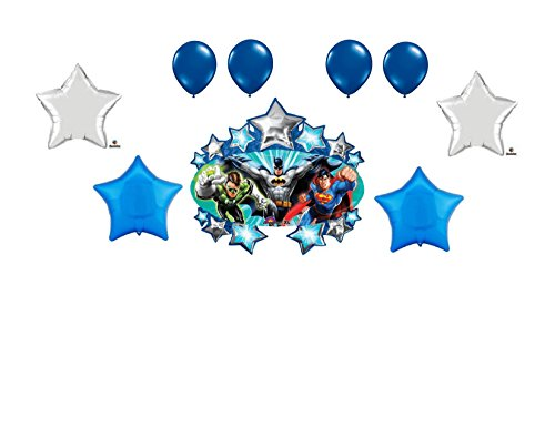 9pc Justice League Balloon Bouquet Decoration Party