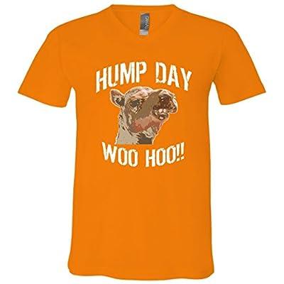 hump day woo hoo camel face V-Neck T-Shirt
