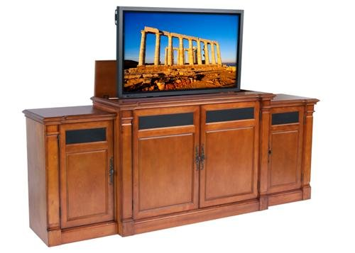 Buy low price adonzo brandy tv lift cabinet with side for Tv lift consoles for flat screens