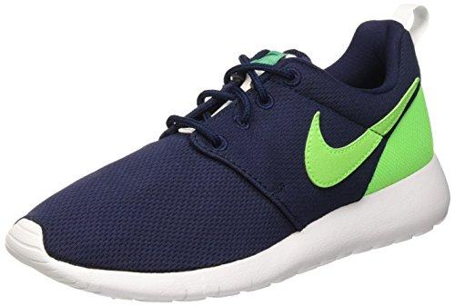 Nike Roshe One (Gs) Scarpe da corsa, Bambini e ragazzi, Multicolore (Obsidian/Vltg Grn-Lcd Grn-Wht), 38