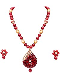 Best Valentine Gift Sitashi Artificial Fashion Jewellery Collection Rajasthani Office Wear Floral Design Necklace...