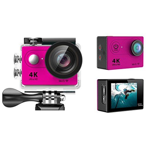 Sport Camera, TONSEE Waterproof H9 Ultra HD 4K WiFi 2.0 Inch Sport Camera Video Camcorder - Hot Pink (High Speed Camera 5000 Fps compare prices)