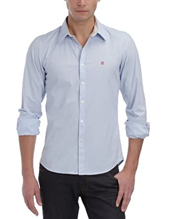 Replay M4707A - Chemise - Homme - Bleu (Azur)e - Small