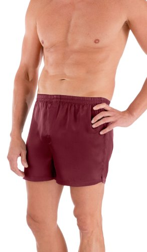 Men'S Silk Dress Boxers -The Board Room (Burgundy, Medium) Anniversary Gift For Husband Wedding Gifts Groom Gift Great Gifts For Groomsmen Special Occasion Ms6102-Brg-M