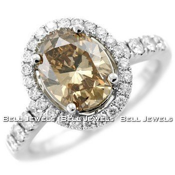 VS1 2.61ct Fancy-Champagne Diamond Engagement
