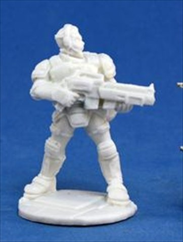 Reaper Miniatures 80014 Bones - Chrono Garvin Markus, Nova Hero - 1