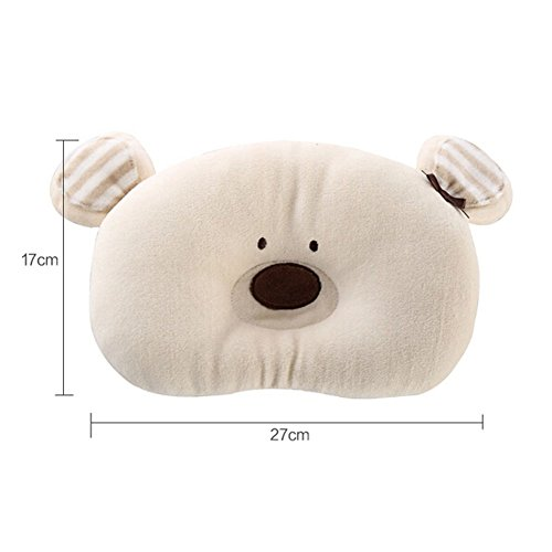 Panda Superstore Newborn Infant Prevent From Flat Head Toddle Baby Head Support Pillow BEAR