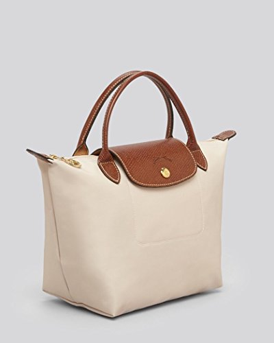 Longchamp discount duty free Longchamp Small Handheld Tote - Le Pliage - Ecru