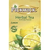 Pickwick Herbal Tea, Lemon, 20-Count Tea Bags (Pack of 6)