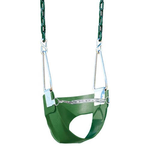 Playtime Swing Sets Playtime Swing Sets Half Bucket Swing -, Green, Rope front-389187