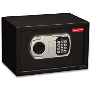 Honeywell 5101 Steel Security Safe, 0.31 Cubic Feet, Black