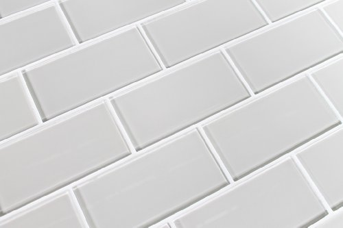 10 sq ft of country cottage warm off white 3x6 glass subway tiles discount power smomg2. Black Bedroom Furniture Sets. Home Design Ideas