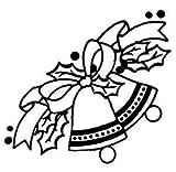 Dos campanas de Navidad, etiqueta engomada del vinilo, pegatinas, H = 60cm, W = 60cm