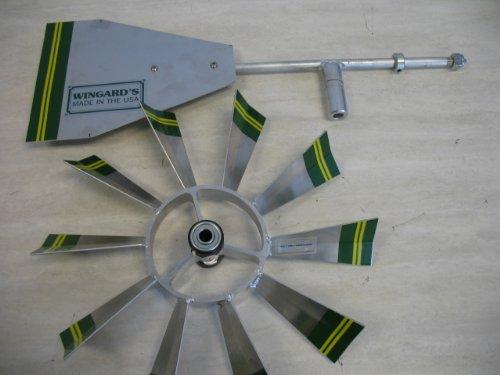 6 Ft Made In The USA Premium Aluminum Decorative Garden Windmill Green Trim