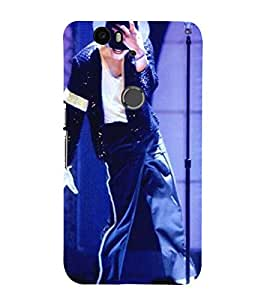 Vizagbeats michale jackson on stage Back Case Cover for Huawei Google Nexus 6P