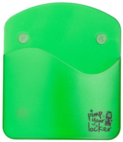 Magnetischer Stifthalter / Handyhalter für Kühlschrank, Schließfach, Spind in grün (froggy green)