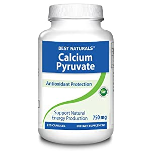 #1 Calcium Pyruvate 750 mg Capsule by Best Naturals by Best Naturals