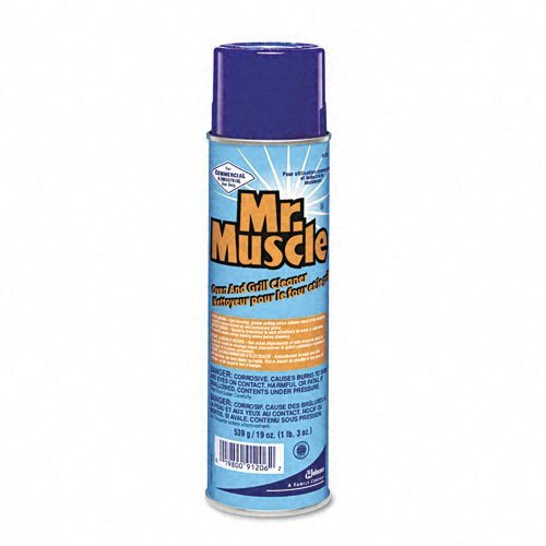 Mr. Muscle Products - Mr. Muscle - Oven And Grill Cleaner, 19 oz. Aerosol - Sold As 1 Each - Self-scouring action means less scrubbing. - Use on ovens, broilers, hoods, pots, pans, fryers. - Quick-clean formula for fast 30-minute cleanups. - For tougher jobs, leave foam on for two to four hours. - Long-lasting foam penetrates, absorbs and lifts away burnt-on grease and grime.