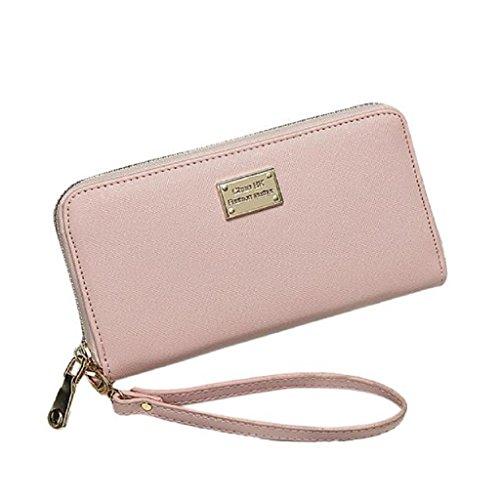 Borsa Familizo Elegant Signora Women borsa della frizione Portafoglio Holder Piccolo sacchetto della carta (Rosa)