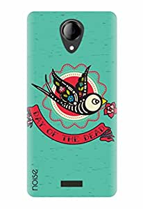 Noise Bird Of Dead Printed Cover for Micromax Canvas Pace 4G Q416