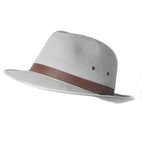 2X, XXL, XX-Large Water Resistant UV Blocking Cotton Fedora Sun Hat (Fedora Hats Extra Large compare prices)