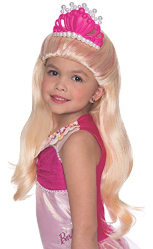 Rubies Barbie and The Pearl Princess Lumina Wig with Tiara, Child Size