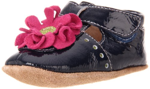 Livie & Luca Baby Blossom T-Strap (Infant/Toddler),Navy Patent,0-6 Months (2 M Us Infant) front-1023559