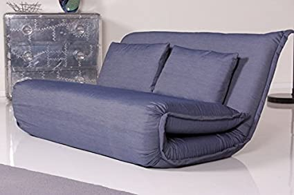Schlafsessel RELAX - Sessel Billy 150 cm Stoff Farbe wählbar (Denim)