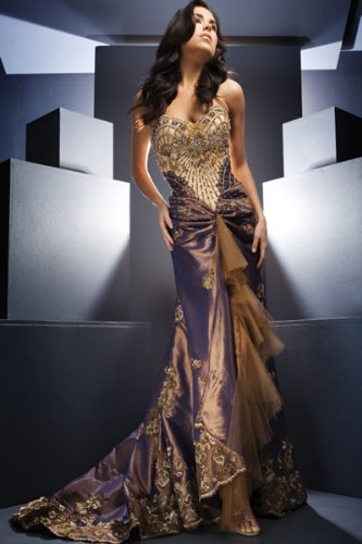 Beaded Strapless Evening Gowns by Tony Bowls Evenings