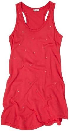 Splendid Big Girls' Crystal Jersey Tunic, Shocking Pink, 7/8