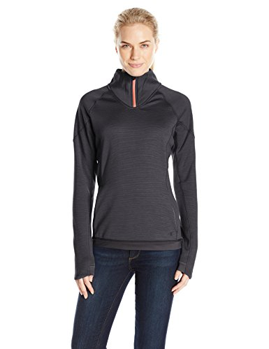 Champion Women's Performance Fleece Quarter-Zip Jacket, Black Space Dye/Black, X-Large (Champion Pullover Piece compare prices)