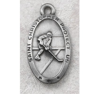 Hand Engraved New England Pewter Medal Sports Athelete Hockey Medal with 24