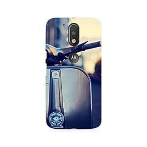 Mobicture Vespa Silver Premium Printed Case For Moto G4/G4 Plus