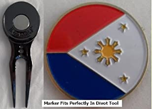 Philippines Golf Ball Marker amp Black Slick Divot Tool
