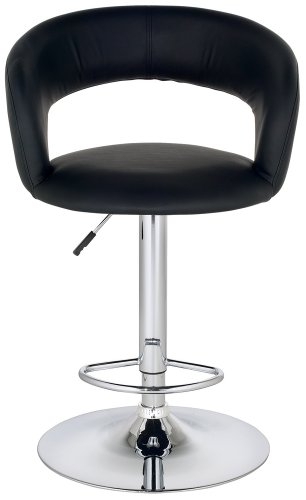 Pleasing Groove Faux Leather Adjustable Height Black Bar Stool Robydumu Ibusinesslaw Wood Chair Design Ideas Ibusinesslaworg