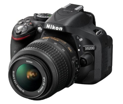 Nikon-D5200-241MP-Digital-SLR-Camera-Black-with-AF-S-18-55-mm-VR-II-Kit-Lens-Memory-Card-Camera-Bag