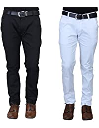 Winsome Deal Pack Of 3 Men's Cotton Slim Fit Chinos Pant - B01DAE9VCA