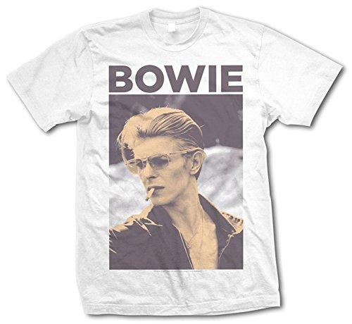 Maglietta ufficiale DAVID BOWIE per affumicare, stile Vintage, in tutte le taglie, colore: giallo