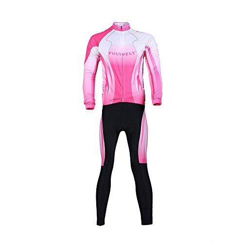 Anself Abbigliamento Ciclismo Set Sportswear bici all'aperto Lunga Maglia manica Pantaloni lunghi da donna traspirante