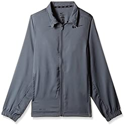 Nike Men's Polyester Track Jacket (666003919413_487360-064_Small_Grey )