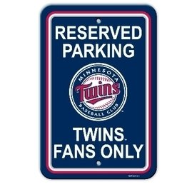 MLB Minnesota Twins Plastic Parking Sign