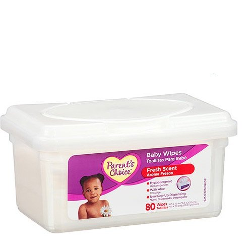 Parents Choice Baby Wipes 80 Ct Tub - 1
