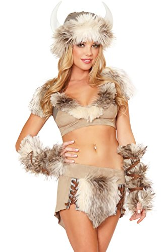 3WISHES 'Viking Mistress Costume' Sexy Warrior Hallowen Costume for Women