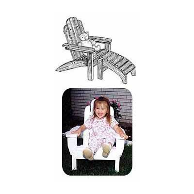 Childs Adirondack Chair with Footrest Plans