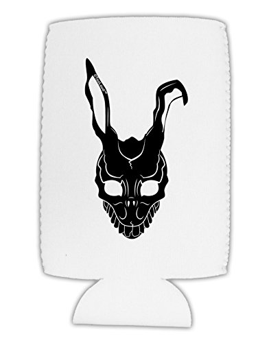[TooLoud Scary Bunny Face Black Collapsible Neoprene Tall Can Insulator] (Frank The Bunny Costume High Quality)