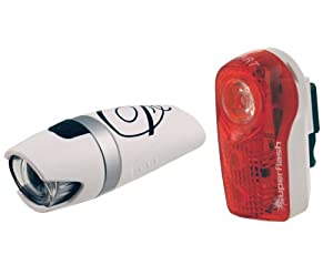 Smart Lunar 25 Lux Front with 1/2 Watt Rear Light Set - Includes Battery (Old Version)
