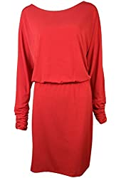 Jessica Howard Women's Ruched Sleeve Blouson Dress